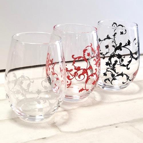 【ガラス用】アラベスク サンゴレッド