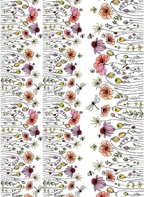 水彩 野に咲く花 転写紙