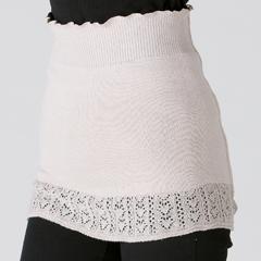 cocoonfit ワイルドシルク 裾レース腹巻き