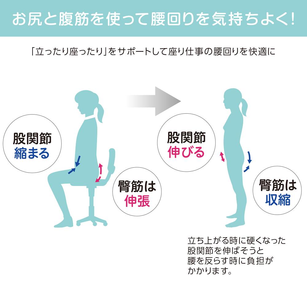 座り仕事を快適サポート 筋膜サポートパンツ