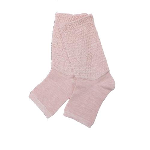 cocoonfit mine シルク混 ゆったり編みのおやすみソックス