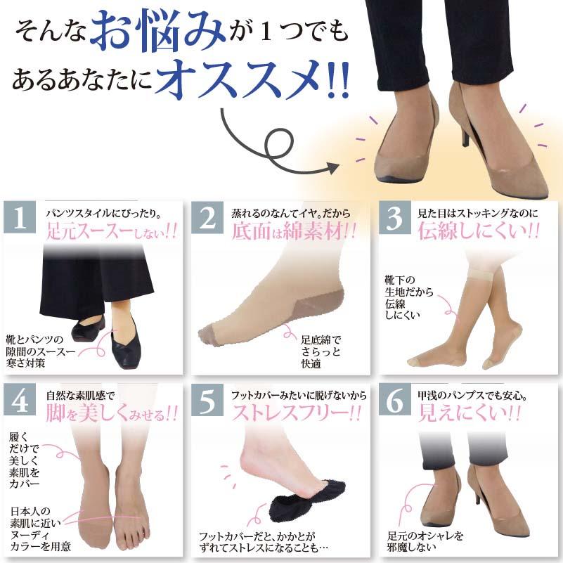 まるでストッキングを履いたみたいな靴下 薄手着圧タイプ