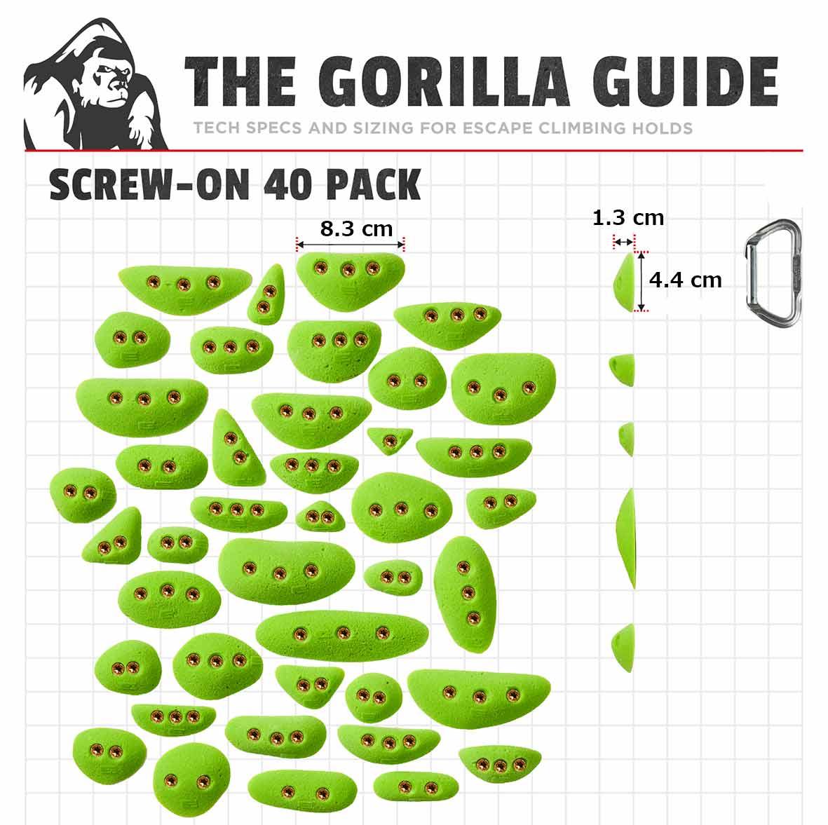 【NEW】ES Screw-On 40 Pack / 40個セット