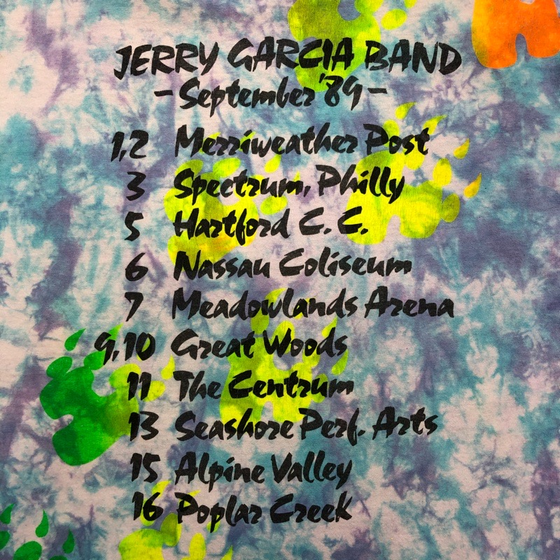 [USED80-]90s JERRY GARCIA T-SHIRT september 89