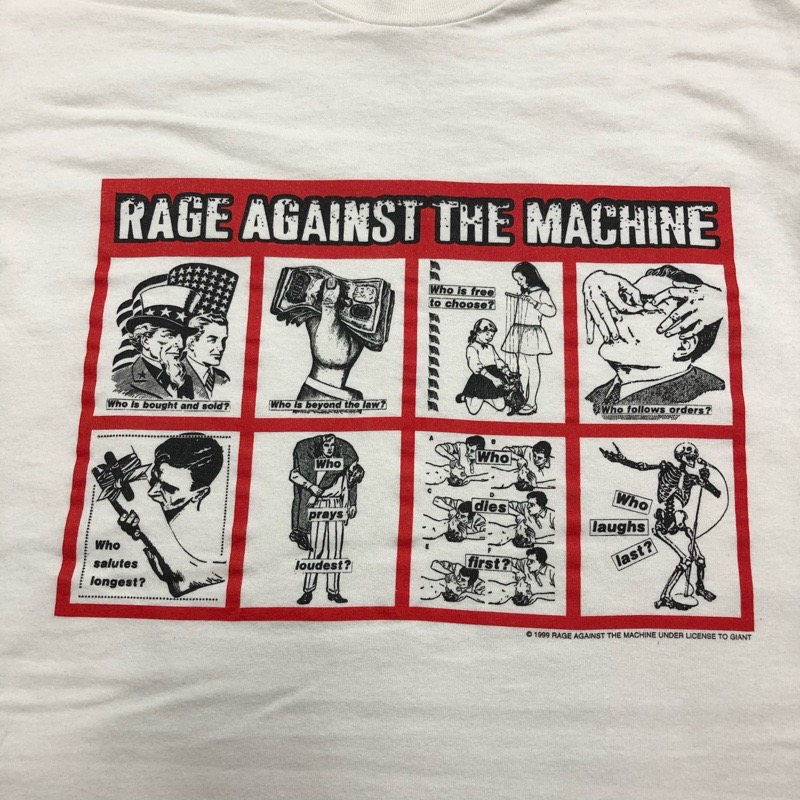 [USED]  RAGE AGAINST THE MACHINE T-SHIRT ©1999 Barbara Kruger