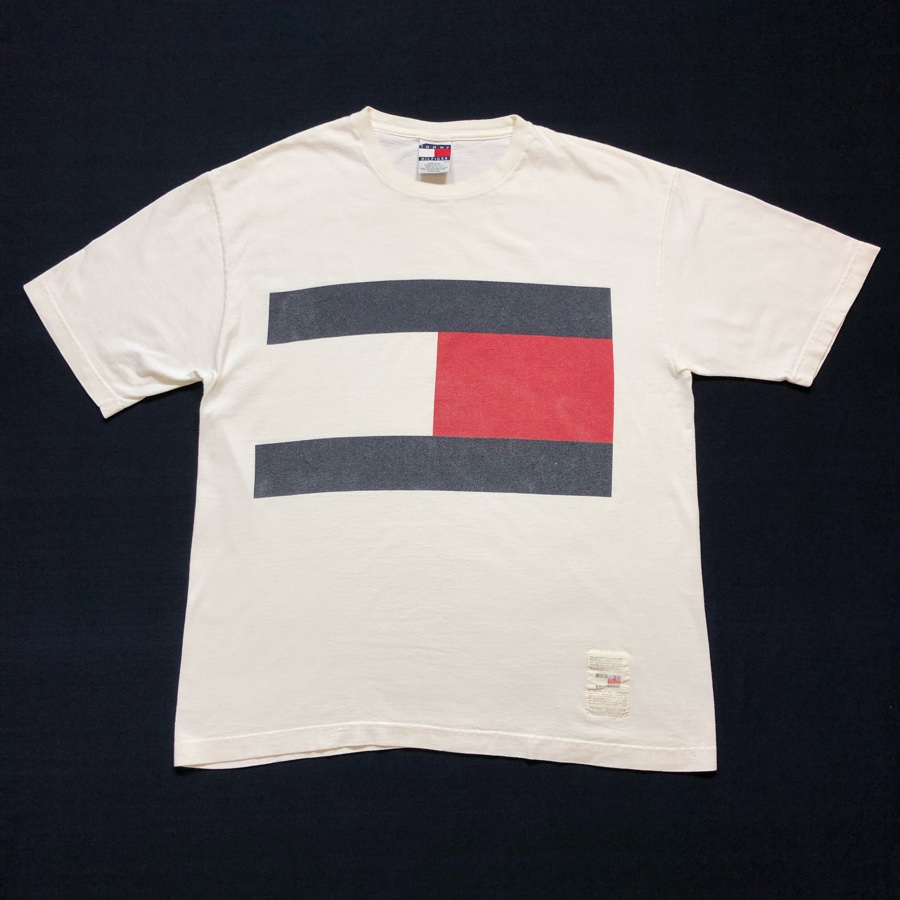 [USED] 90s TOMMY HILFIGER T-SHIRT TOMMY FLAG LOGO