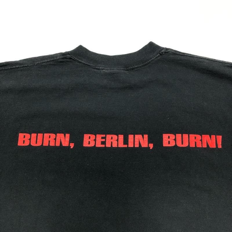 [USED] 90s ATARI TEENAGE RIOT T-SHIRT BURN BERLIN BURN