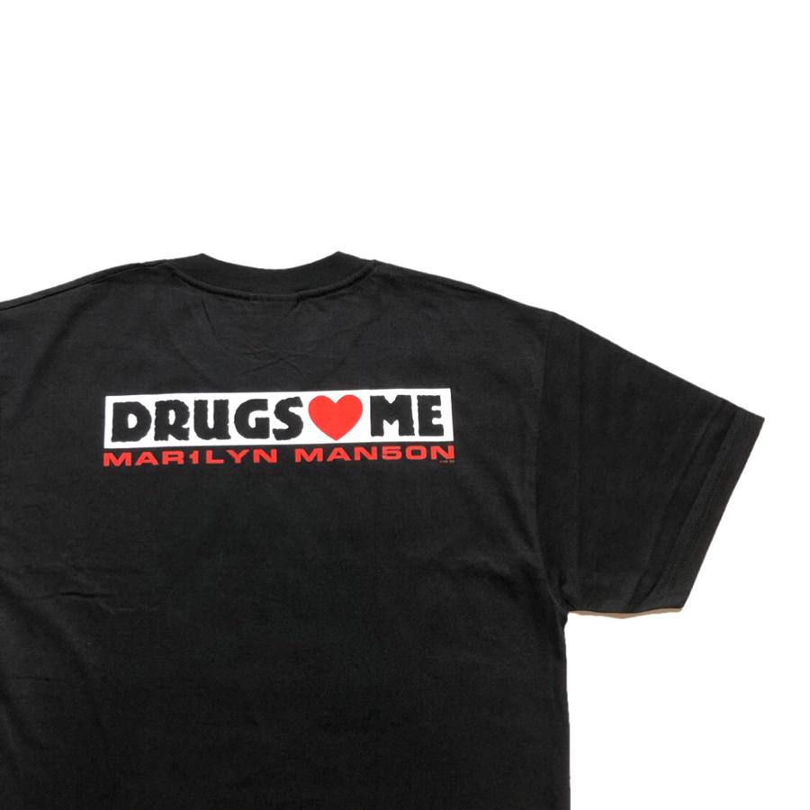 [DEAD STOCK]90s  MARILYN MANSON T-SHIRT DRUGS ❤ME