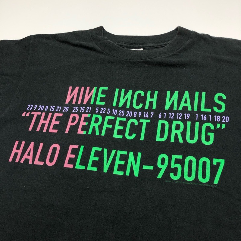 [USED] 90s NINE INCH NAILS T-SHIRT THE PERFECT DRUG