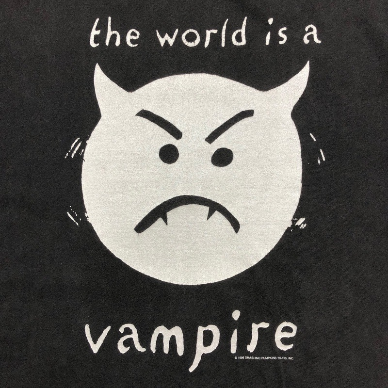 [USED]90s THE SMASHING PUMPKINS T-SHIRT the world is vampire