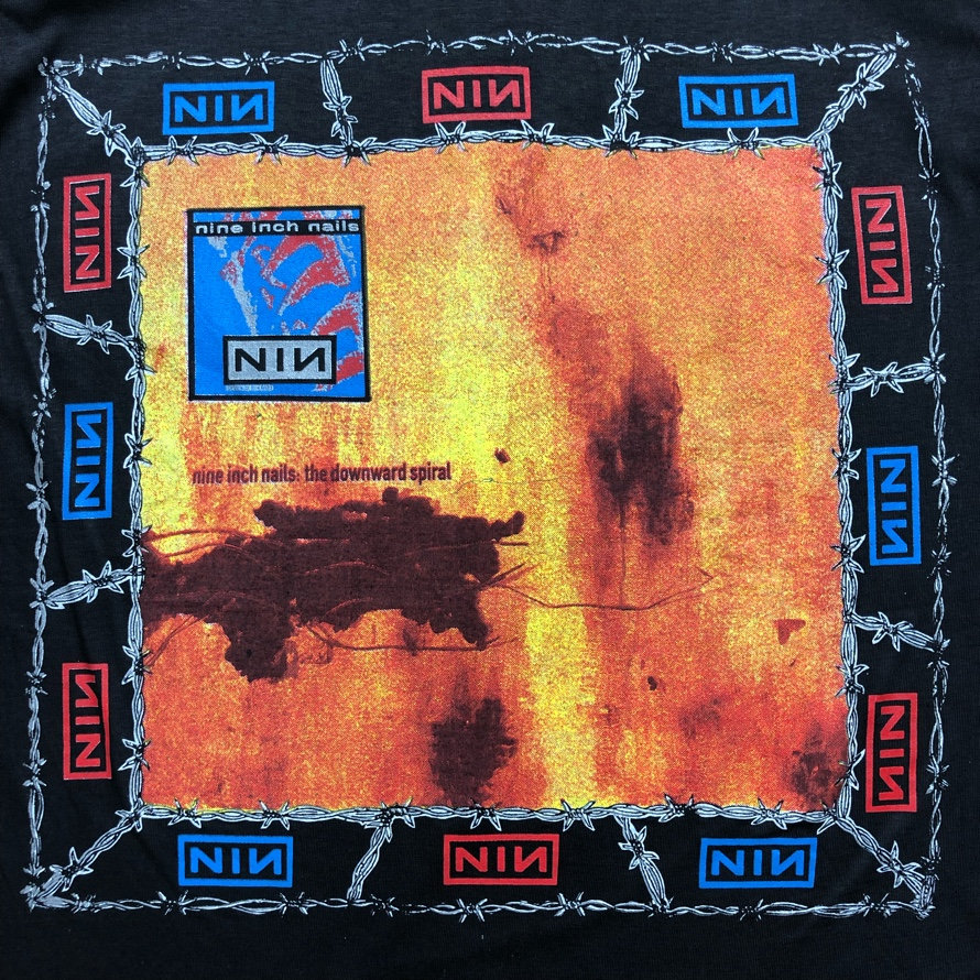 [DEAD STOCK] 90s NINE INCH NAILS T-SHIRT world tour 1994-'95