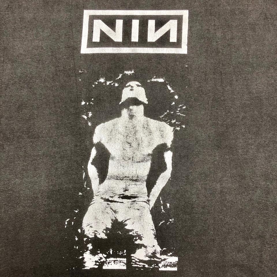 [USED] 90s NINE INCH NAILS  T-SHIRT   Pretty Hate Machine