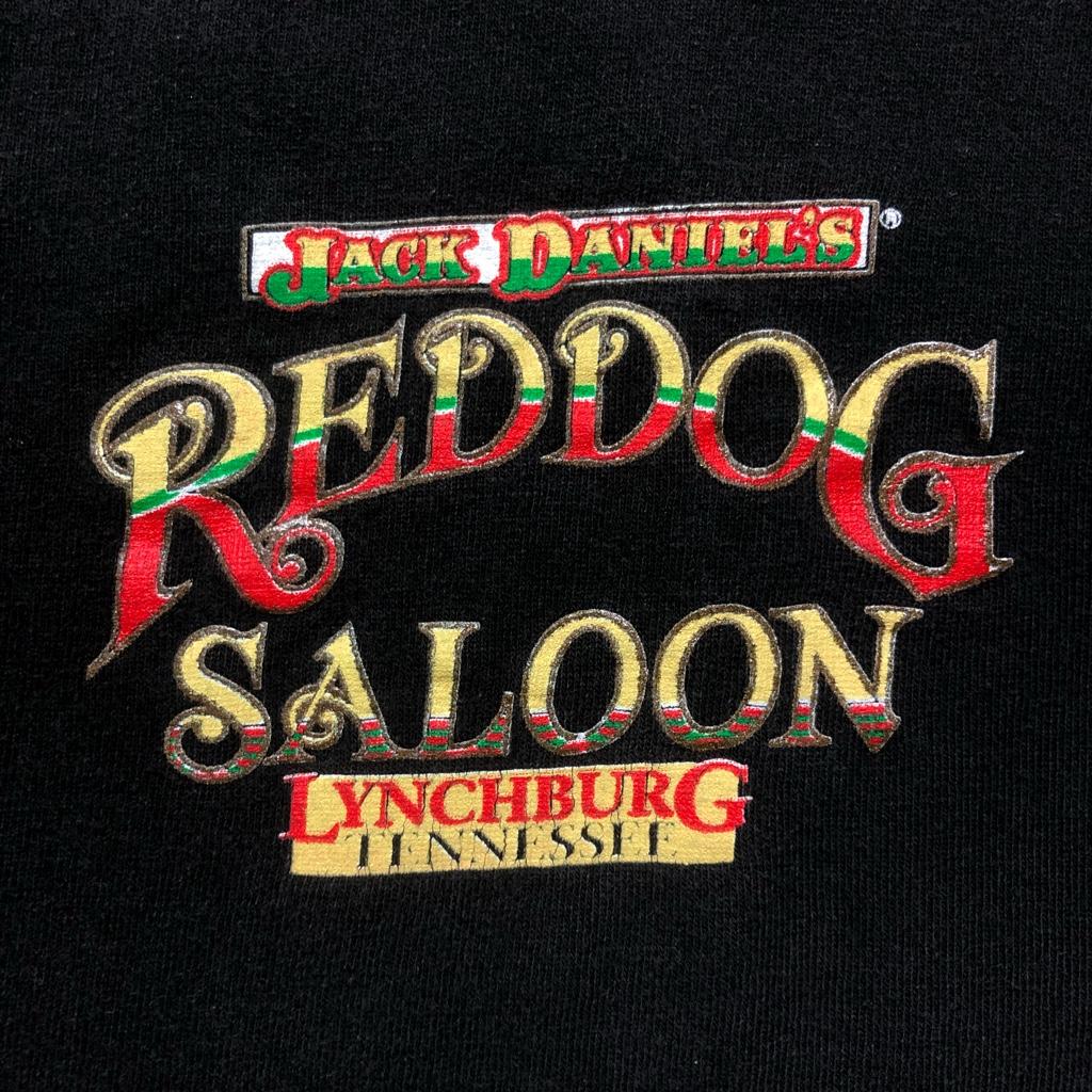 [USED]90s JACK DANNIEL'S T-SHIRT REDDOG SALOON
