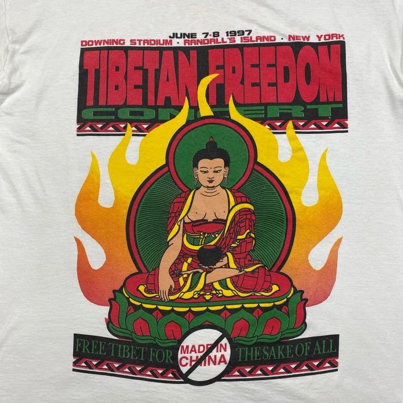 [USED] 90s TIBETAN FREEDOM CONCERT T-SHIRT 1997