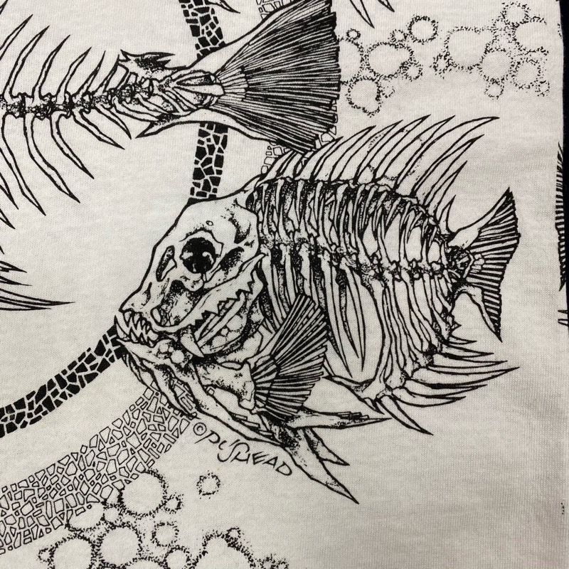 [USED]90s FISH BONE T-SHIRT PUSHEAD DESIGN