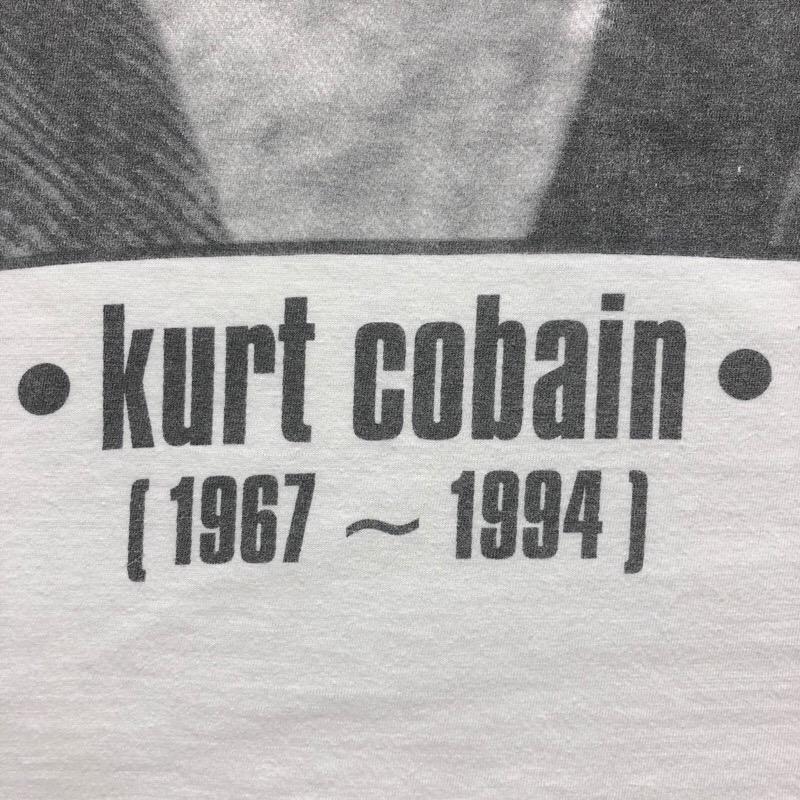 [USED] 90s NIRVANA T-SHIRT kurt Cobain 1967-1994