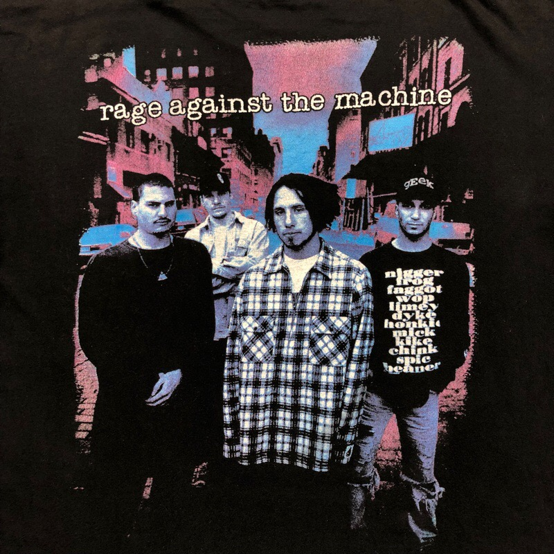 [USED] 90s RAGE AGAINST THE MACHINE T-SHIRT molotov cocktail photo
