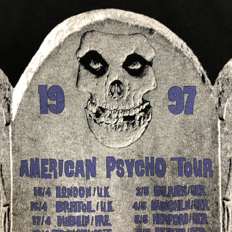[USED] 90s MISFITS LONG SLEEVE T-SHIRT AMERICAN PSYCHO TOUR 1997