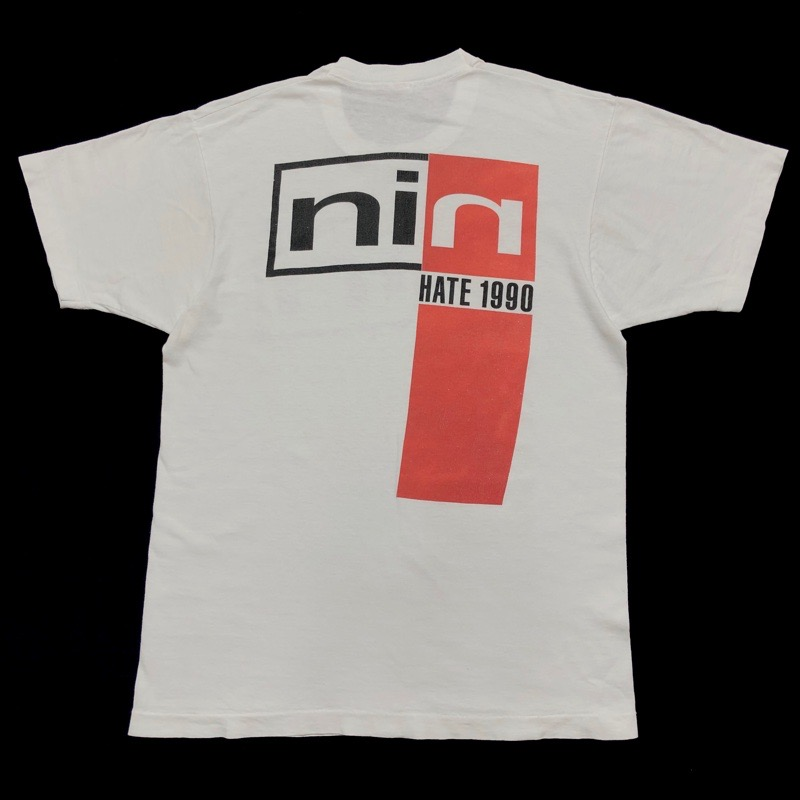 [USED] 90s NINE INCH NAILS T-SHIRT HATE 1990
