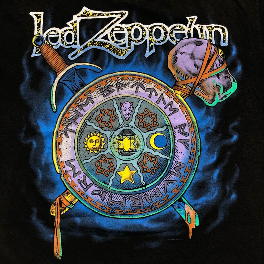 [USED] 90s LED ZEPPELIN T-SHIRT 1994 MYTH GEM