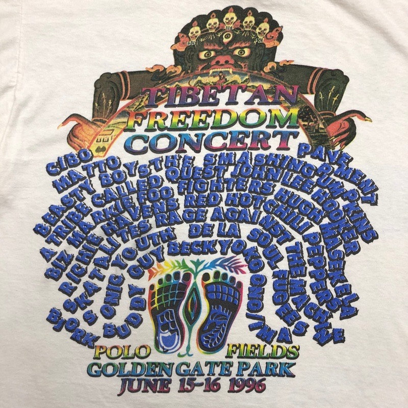 [USED] 90s TIBETAN FREEDOM CONCERT T-SHIRT 1996