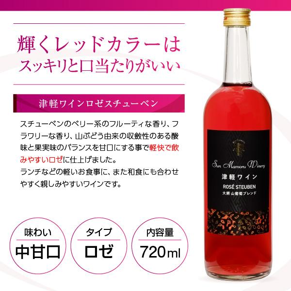 ロゼワイン 中甘口 津軽ワイン ロゼスチューベン 2019