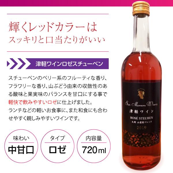 【青森応援】  津軽ワインロゼスチューベン 山葡萄ブレンド