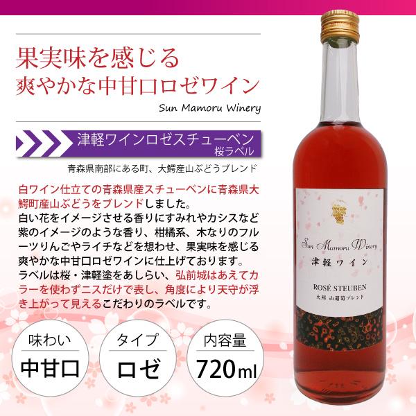 津軽ワインロゼスチューベン 大鰐山葡萄ブレンド 桜ラベル