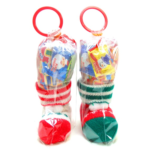 ミニニットブーツ9センチ【クリスマスブーツ】