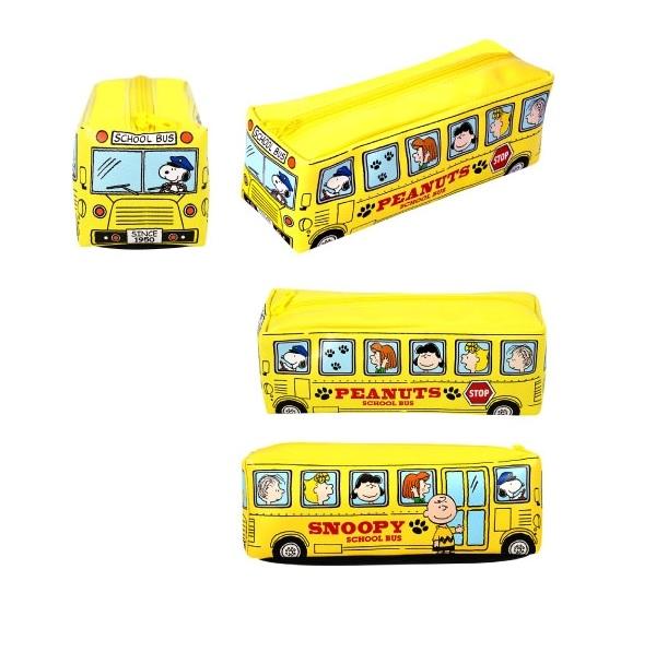 スヌーピーカラフルスクールバスペンケースver2【4個セット】