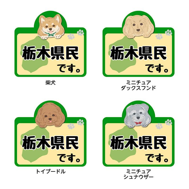 【栃木県】県民です。わんこステッカー 2枚セット(ステッカー 雑貨 カー用品 日本製) 在住 都道府県 県内在住