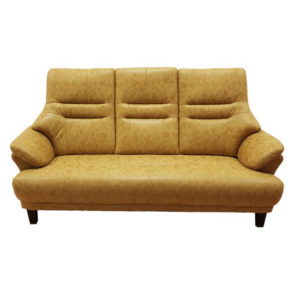 アウトレット【幅174】3人掛け 座る姿勢を考えたコンパクトハイバックソファ Nマリーナ キャメル