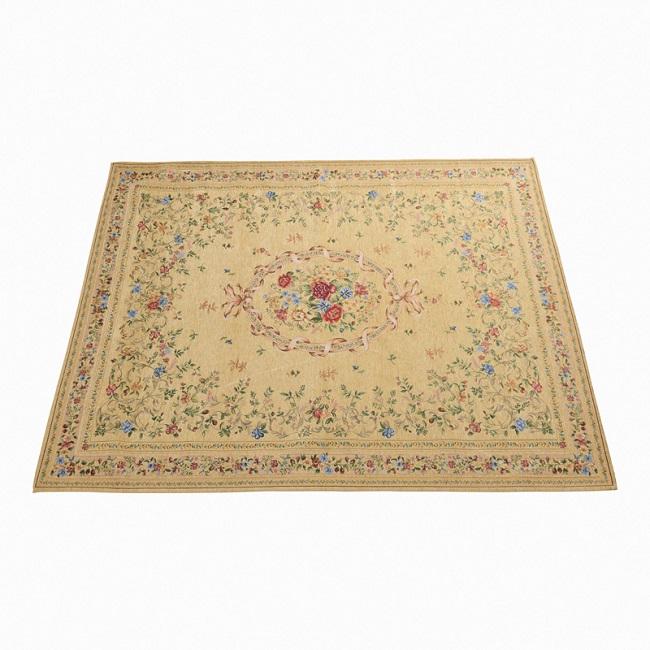シェニールゴブラン織りカーペット[#048]ダークベージュ※玄関先までの配達商品