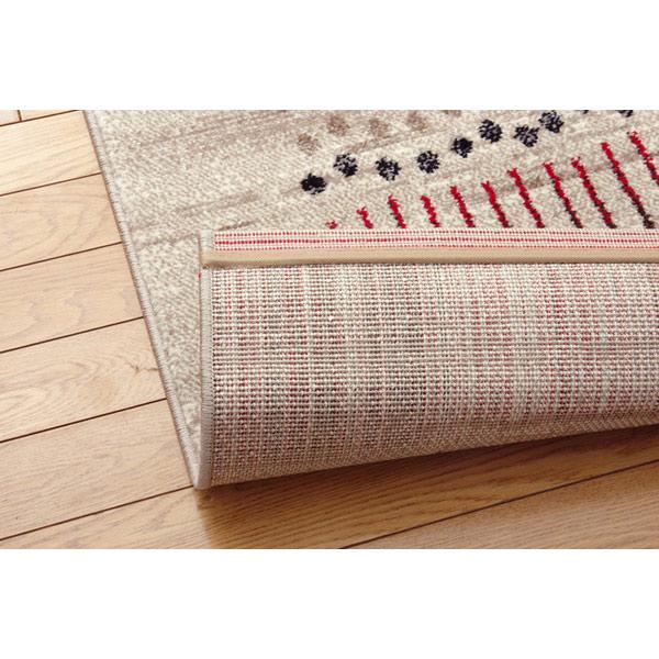 【80x140〜】ホットカーペット対応 トルコ製 ウィルトン織りカーペット マリアラグ ベージュ/グリーン ※玄関先までの配達商品