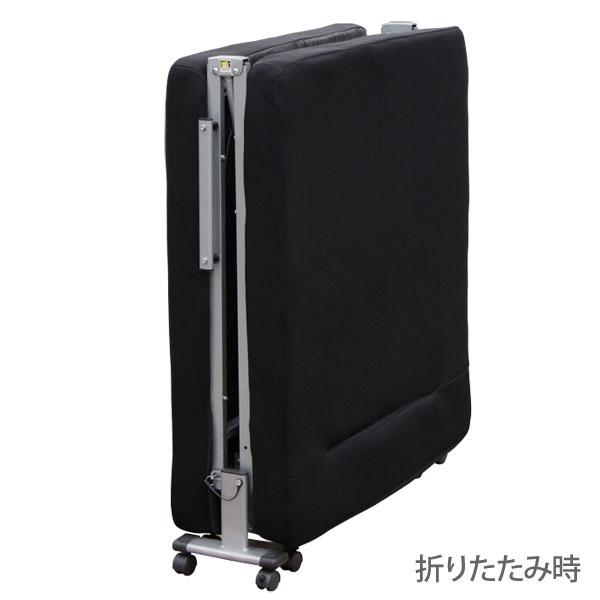 【シングル】アイリスオーヤマ 14段階リクライニングソファベッド OTB-SFN ブラック ※メーカー直送/玄関先までの配達商品