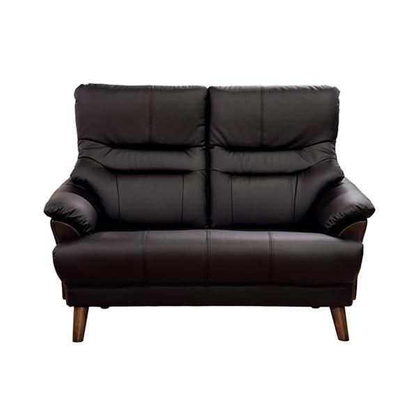 【幅129】2人掛け お手入れ簡単&キズが付きにくい ハイバックソファ カイザー  ブラウン/ベージュ