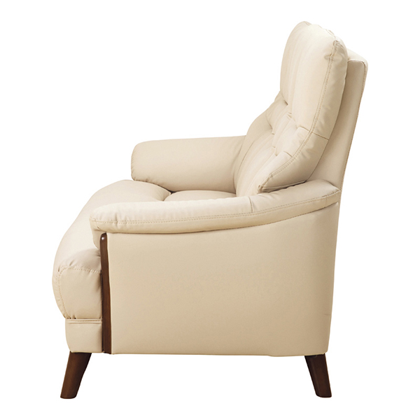 【幅173】3人掛け お手入れ簡単&キズが付きにくい ハイバックソファ カイザー ブラウン/ベージュ