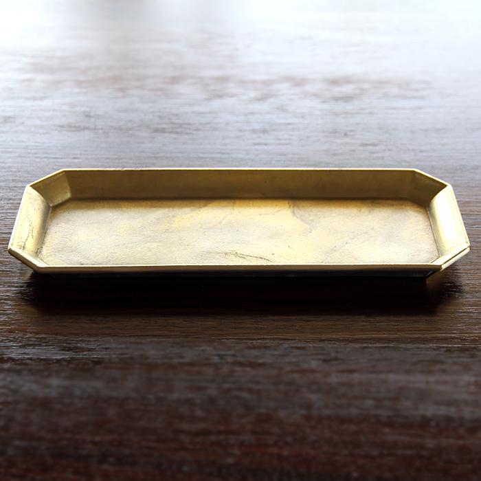 真鍮の生活用品真鍮・鋳肌の文具トレイ 大