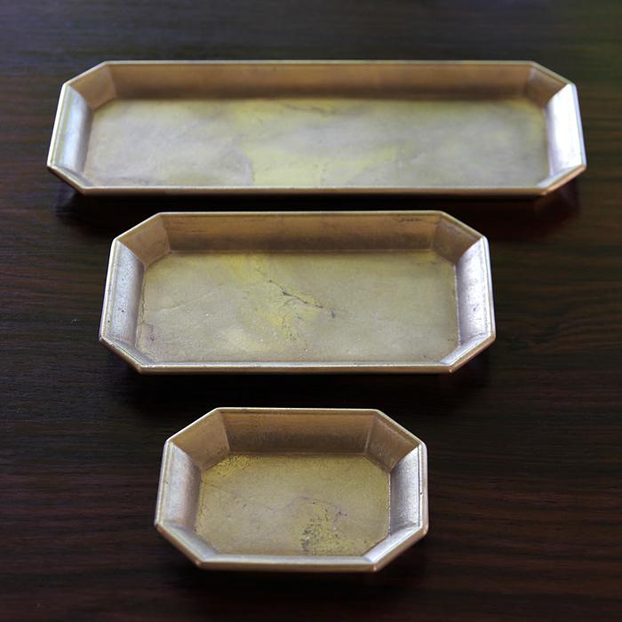 真鍮の生活用品真鍮・鋳肌の文具トレイ 中