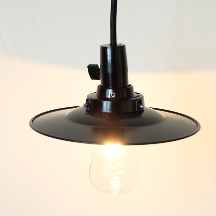 GLF x surou 後藤照明バイスロウ アルミP1KURO CP型44cm アルミP1セード黒ペンダント アンティークランプ球60W付属
