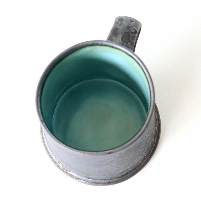 ONE KILN<br />A型マグ ロー Mサイズ 灰釉/青