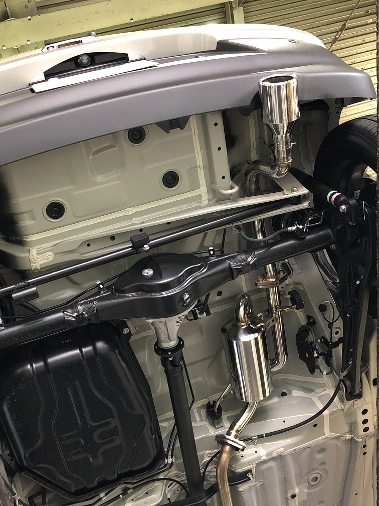 【個人宅配送】X BEE(4WD)用PFSループサウンドマフラー