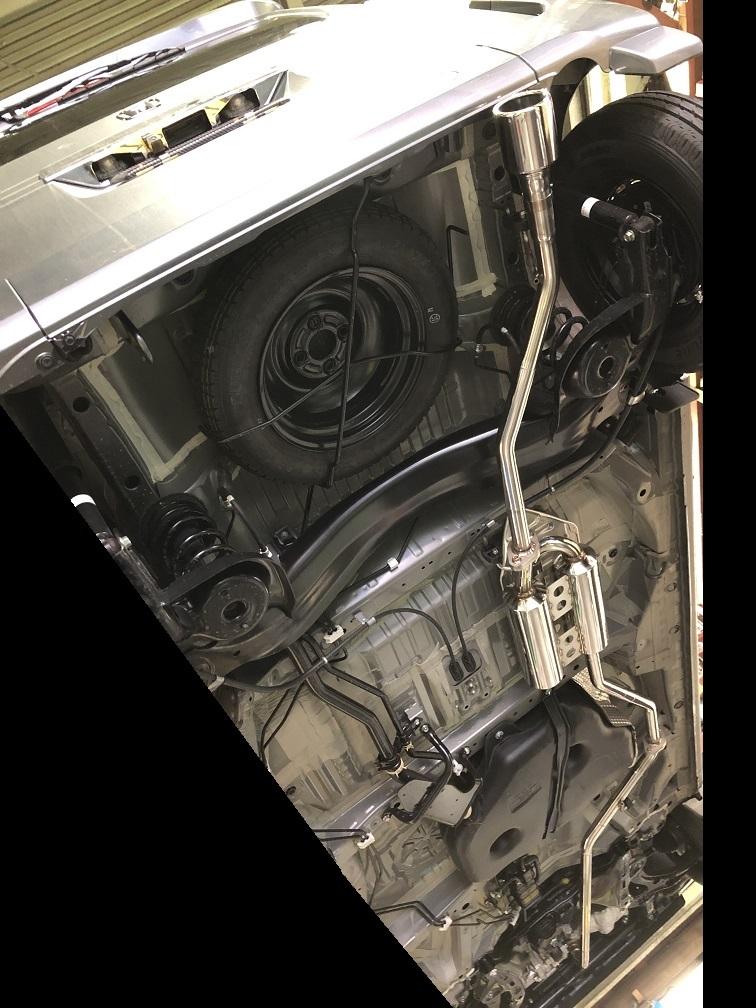 【個人宅配送】N-VAN(MT車)用PFSループサウンドマフラー