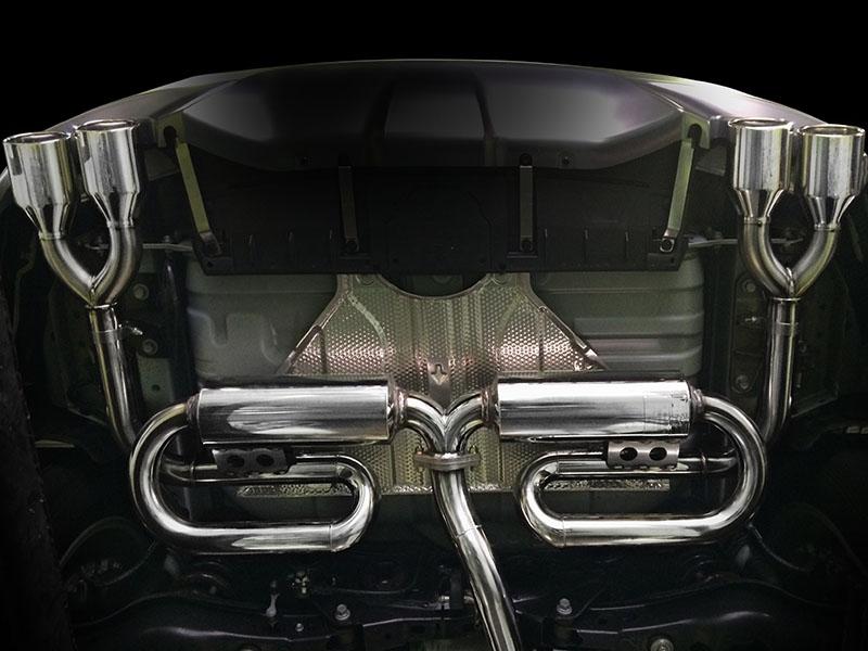 【業者配送】NX200t用PFSループサウンドマフラー(モデリスタバンパー専用:スルガスピードテール:左右出しダブルテール)