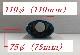 単品テールエンド : チタン110×75オーバル(1個)