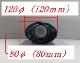 単品テールエンド : チタン120×80オーバル(1個)