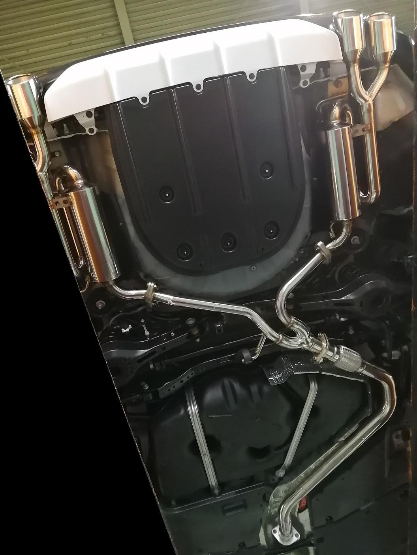 【個人宅配送】ES300h用PFSループサウンドマフラー(TRDリアディフューザー装着車専用)