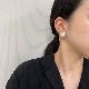 【D02936】マベパール ピアス15mm 奄美大島産 ホワイト系マベパール K18イエローゴールド