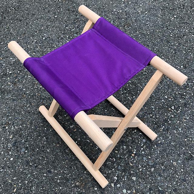 【 胡床 】 角太足胡床白木紫布