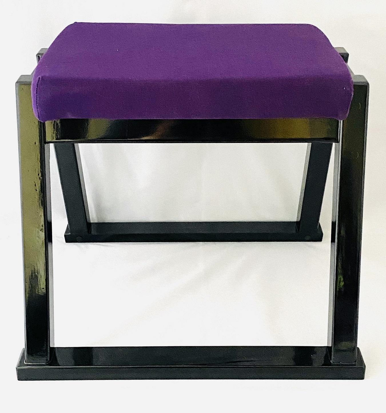 【 座敷用椅子 】 本堂用椅子高さ37cm座面紫布